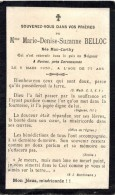 IMAGE PIEUSE SOUVENIR MORTUAIRE FAIRE PART Décès Mme Marie Denise Suzanne BELLOC Née Mac CARTHY HUNIAC Carcassonne - Todesanzeige