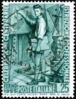 ITALIA, ITALY, ITALIEN, COMMEMORATIVI, ISTRUZIONE, 1955, 25 L., FRANCOBOLLO USATO, Michel 948 - 6. 1946-.. Repubblica