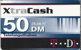 Telefonkarte.- Duitsland. XtraCash. 50 DM. 25.56 €. Telefonguthaben - Deutschland. 2 Scans - GSM, Voorafbetaald & Herlaadbare Kaarten