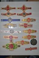 Lot De 16 étiquettes De Bagues De Cigare Anciennes - Labels