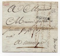 1784 - LETTRE Avec MARQUE De BAGNOLS SUR CEZE (GARD) - 1701-1800: Precursors XVIII
