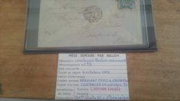 LOT 231928 TIMBRE DE FRANCE OBLITERE BALLON MONTE TRES BELLE PIECE