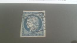 LOT 231944 TIMBRE DE FRANCE OBLITERE N�4 VALEUR 60 EUROS