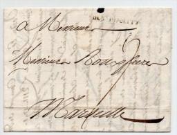 """1771 - LETTRE De SAINT HIPPOLYTE DU FORT (GARD) Avec MARQUE """"DE St HIPPOLYTE"""" LENAIN N°3 (INDICE 12) - 1701-1800: Precursors XVIII"""