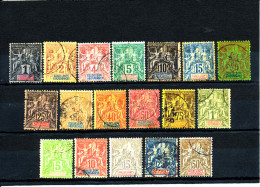 "Guadeloupe 1892-1901  (Type ""Groupe"" Complet - 27à39 Et 40à44)  En PROMO - Guadalupe (1884-1947)"