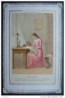 IMAGE PIEUSE Canivet Dentelle Fin XIXème ENFANT DE  MARIE - SON TRAVAIL / HOLY CARD / SANTINO - Images Religieuses