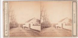 Waterloo La ferme du Caillou zeer oude stereofoto van omstreeks 1870 B004