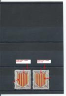 N°1046 2 TIMBRES FRANCE LUXE ROUGE CLAIR + ROUGE FONCE + LEGER DECALAGE 1955 - Variétés: 1950-59 Neufs