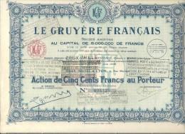 LE GRUYERE FRANCAIS - Azioni & Titoli