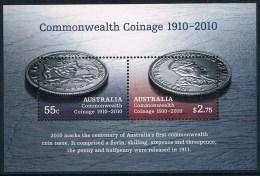 Australie - Centenaire De La Première Monnaie Du Commonwealth D'Australie BF 127 ** - Blocs - Feuillets