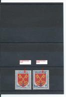 N°1047 2 TIMBRES FRANCE LUXE INSCRIPTIONS BLEU CLAIR ET BLEU FONCE 1955 - Variétés: 1950-59 Neufs
