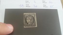 LOT 232087 TIMBRE DE FRANCE OBLITERE N�3a VALEUR 65 EUROS TB SANS DEFAUT