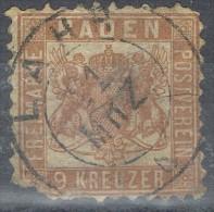 Sello 9 Krz BADEN, Fechador LAHR, Num 19 º - Baden