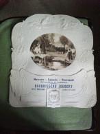 Calendrier Gaufré 1926 Porte Lettre épicerie Petit Pressigny Décor De Laveuse - Calendars