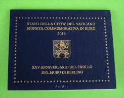 2 Euro Gedenkmünze  Vatikan 2014 : 25 Jahre Berliner Mauerfall,  Berlin - Vaticano (Ciudad Del)