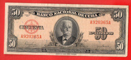 CUBA 50 PESOS 1950 U893 - Cuba
