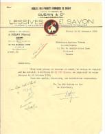 Guérin & Cie Lessives Et Savon Usine Et Bureaux à Dissay 86) Du 22 Novembre 1950 - Petits Métiers