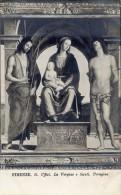 Firenze - Cartolina Antica LA VERGINE E SANTI Di Perugino, Galleria Uffizi - OTTIMA H18 - Pittura & Quadri