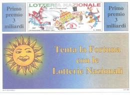 CARTOLINA DELLA LOTTERIA DEL CARNEVALE DI VIAREGGIO CENTO E PUTIGNANO  ANNO 1997  NUOVA PERFETTA - Loterijbiljetten