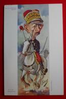 M. LE GENERAL ANDRE  - Peinture De SIRAT - H. REYMOND Sc.- Cheval, Croix De Guerre? - Médaille - Casquette - Satirical