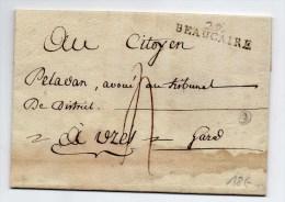 1792 - LETTRE De BEAUCAIRE (GARD) - INDICE 9 - 1701-1800: Precursors XVIII