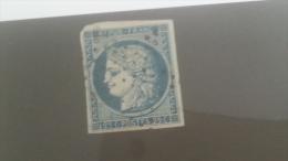 LOT 232091 TIMBRE DE FRANCE OBLITERE N�4 VALEUR 60 EUROS