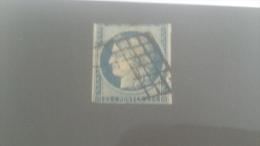 LOT 232092 TIMBRE DE FRANCE OBLITERE N�4 VALEUR 60 EUROS