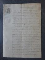 79 Argenton-le-Château 1865 Procès Incendie Par Enfants, Maudoux Vs Huet ; Ref 729 - Historical Documents