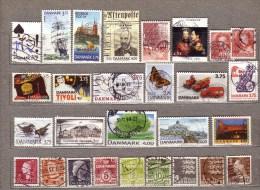 DANMARK DENMARK Used Gestempelt Oblitere Stamps Lot #8000 - Lotes & Colecciones