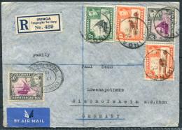 1938 K.U.T. Registered Iringa Tanganyika Territory Airmail Cover -  Bischofsheim Germany - Kenya, Uganda & Tanganyika