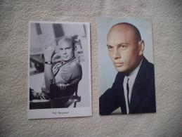 2 Cartes YUL BRYNNER - Actores