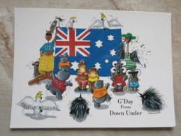 Australia  FLAG  - Humour  Animals  Koala - G'Day From Down Under  -       D120831 - Non Classés