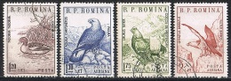 K532 FAUNA VOGELS BIRDS OISEAUX VÖGEL AVES GANS GOOSE ADELAAR EAGLE GIER GEIER ROMANA ROMANIA 1960 Gebr / Used - Oiseaux