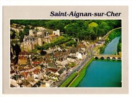 Saint Aignan Sur Cher (41) Vue Generale Aerienne - Le Chateau - Le Pont Sur Le Cher Et La Piscine - Frankrijk