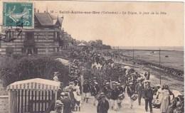 SAINT AUBIN SUR MER ..LA DIGUE LE JOUR DE LA FETE - Other Municipalities