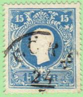 """AUT  SC #11a 1858 Emp. Franz Josef  (Typ I) """"GORZ / 5-24"""", CV $24.00 - 1850-1918 Empire"""