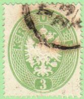 AUT SC #18 1863 Coat Of Arms, CV $100.00 - 1850-1918 Empire
