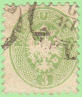 AUT  SC #23 1864 Coat Of Arms, CV $15.00 - 1850-1918 Empire