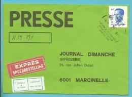 2069 Op Brief Per EXPRES Met Stempel HAMOIR, Met Strookje TROUVE A LA BOITE / IN DE BUS GEVONDEN - 1981-1990 Velghe