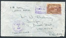 1939 El Salvador Airmail Cover - Lancaster England - El Salvador