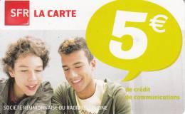 REUNION ISL. - Boys, SFR Prepaid Card 5 Euro, Exp.date 08/12, Used - Reunion