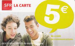 REUNION ISL. - Boys, SFR Prepaid Card 5 Euro, Exp.date 08/12, Used