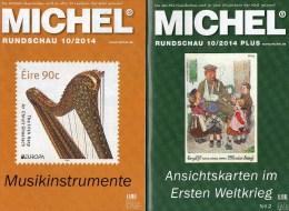 MICHEL Briefmarken Rundschau 10/2014 Sowie 10/2014 Plus Neu 11€ New Stamp Of The World Catalogue And Magacine Of Germany - Libros & Cds