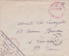 """1945 Lettre FM """"BATNA CONSTANTINE"""" + """" 7è LEGION DE LA GARDE 12e ESCADRON BATNA """" ALGERIE - Covers & Documents"""