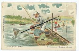 CPA - Pêche D'eau Douce - Enlévement à L'épuisette(Chevesnes) - Chocolat Louis - Pêche