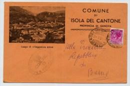 Comuni D'Italia - Isola Del Cantone- Provincia Di Genova - Non Classificati