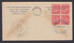1950-FDC-9 CUBA REPUBLICA. 1950. Ed.10. CONSEJO DE TUBERCULOSIS. BLOCK 4. - FDC