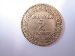 La pi�ce 2 francs Chambres de Commerce, BON POUR 2 FRANCS de 1921