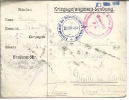 Kriegsgefangenensendung Enveloppe Dédiée Du Camp De Grafenwöhr Pour Deville-les-Rouen - Marcophilie (Lettres)