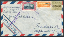1940 Guatemala Airmail Censor Cover - Breslau Germany New York - Guatemala